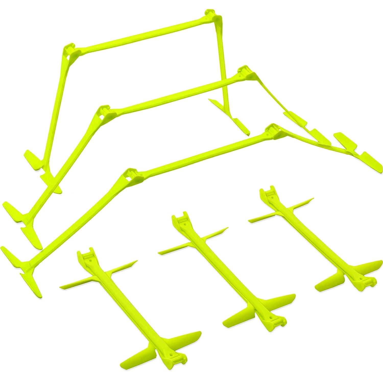 Quickplay PRO Ostacoli per l'allenamento della velocità a Scatto rapido e Altezza Regolabile - Set da 6 Quick Play Sport