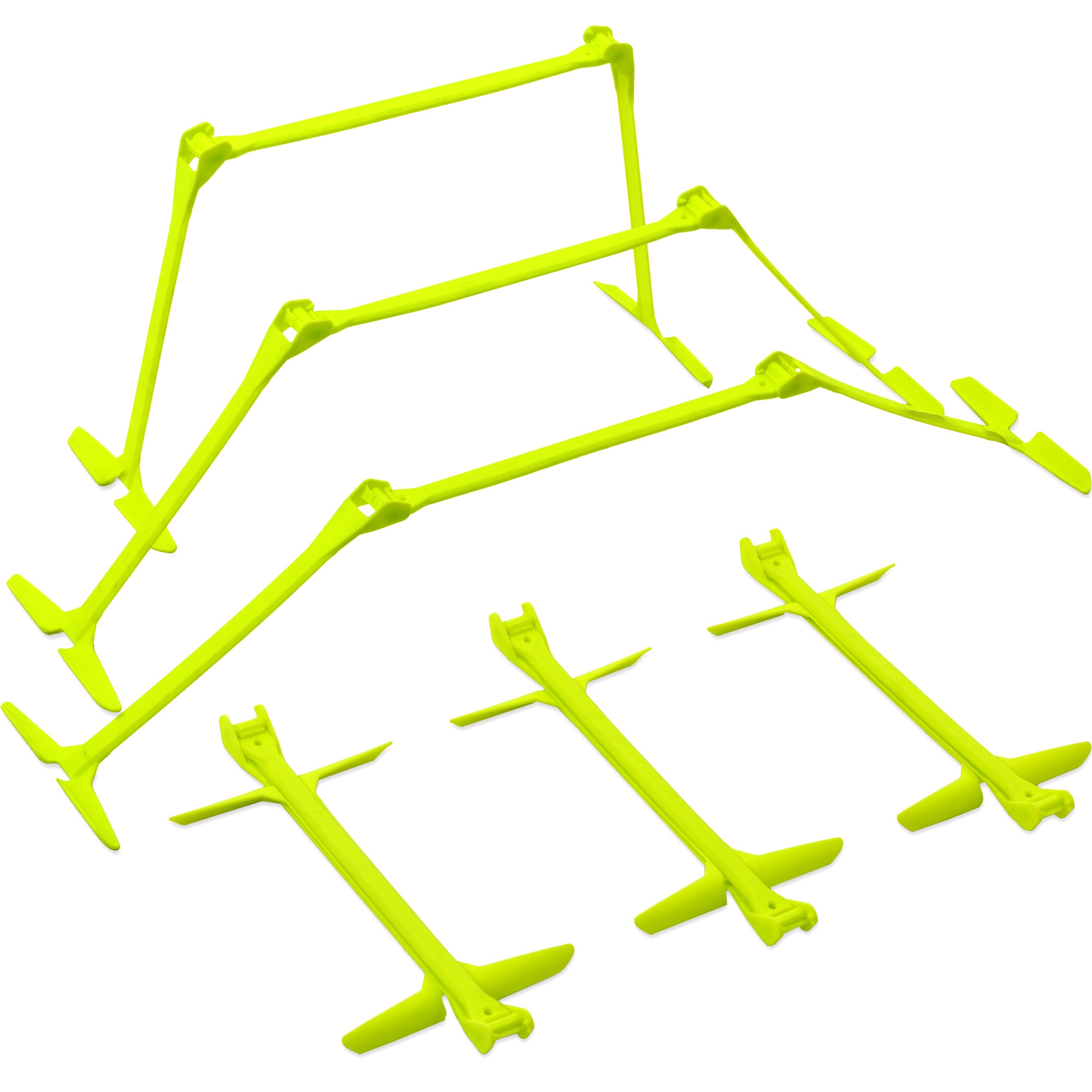 QuickPlay PRO Adjustable Height: 6'', 9'' + 12'' All-in-One Speed Hurdles (Set of 6) Speed Training Hurdles, Agility Hurdles and Plyometric Hurdles