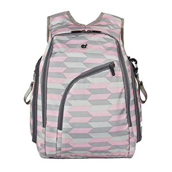 Amazon.com   ECOSUSI Diaper Backpack Fully-opened Baby Diaper Bag with  Changing Pad Pink and Grey   Baby cb0171b160630