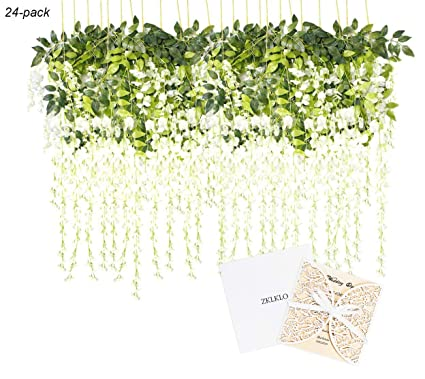 Amazon 432 Artificial Silk Wisteria Vine Ratta Silk Hanging