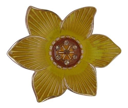 Broche Boutique esmalte amarillo Narciso broche/Marzo de ...
