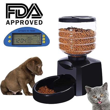 Happy&Polly Alimentador de Mascotas Automatico 5L para Perros Gatos Comederos Automaticos Recordatorio por Voz y Temporizador