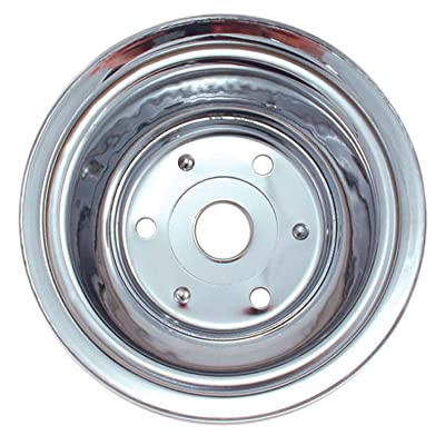 Spectre Performance 4448 Chrome Triple Belt Crankshaft Pulley for Small Block Chevy with Long Water Pump: Automotive