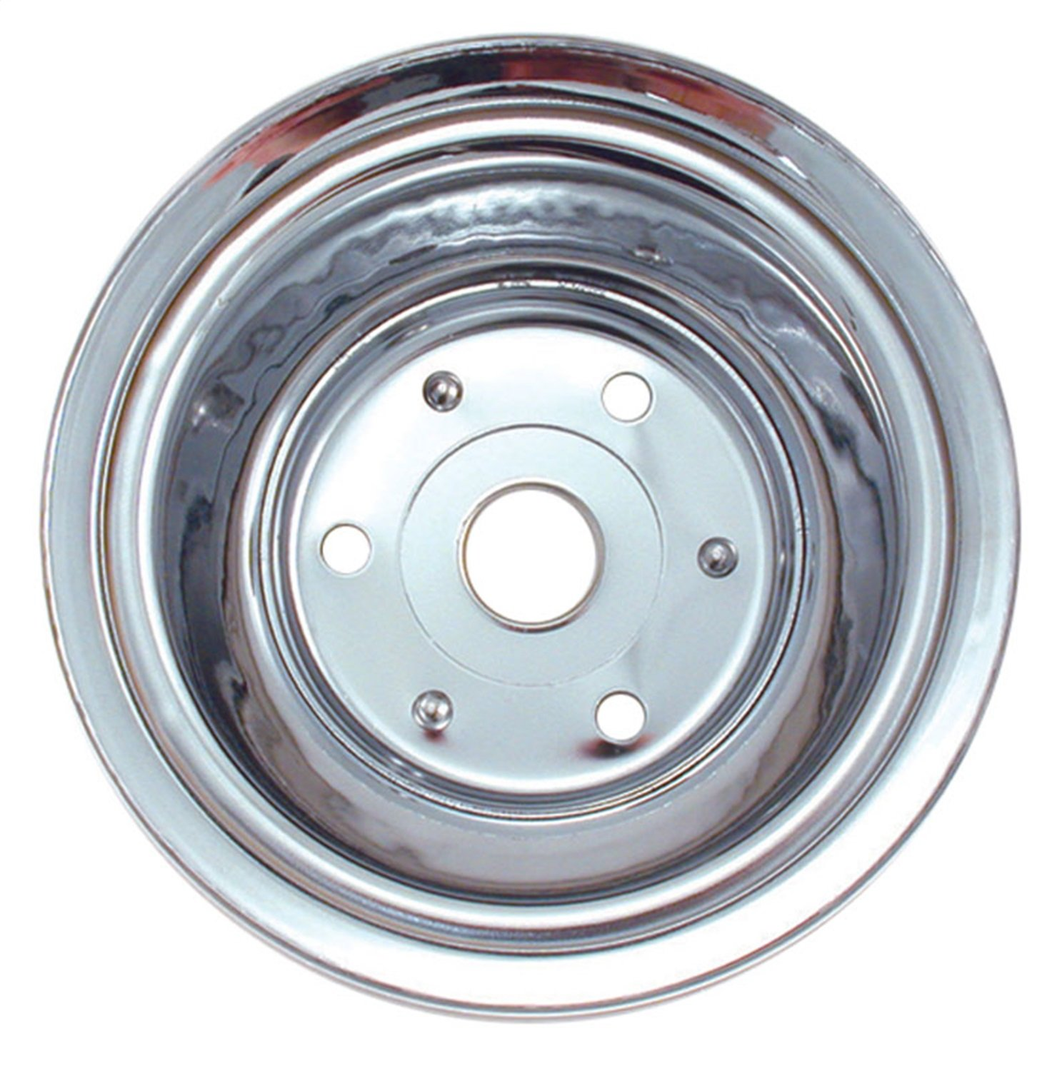 Spectre Performance 4448 Chrome Triple Belt Crankshaft Pulley for Small Block Chevy with Long Water Pump