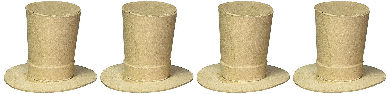 Darice 2873-853 Paper Mache Carolers' Hats ( Pack of 4 )