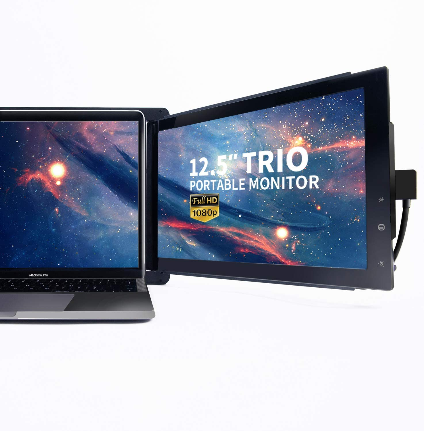"Trio Slide Portable Monitor for Laptop,The On-The-Go Dual & Triple Screen Laptop Monitor, USB A/Type-C, Lightweight Design,Mac, PC,Linux, Chromebook 13-17 Laptops (One Trio 12.5"" Monitor)"