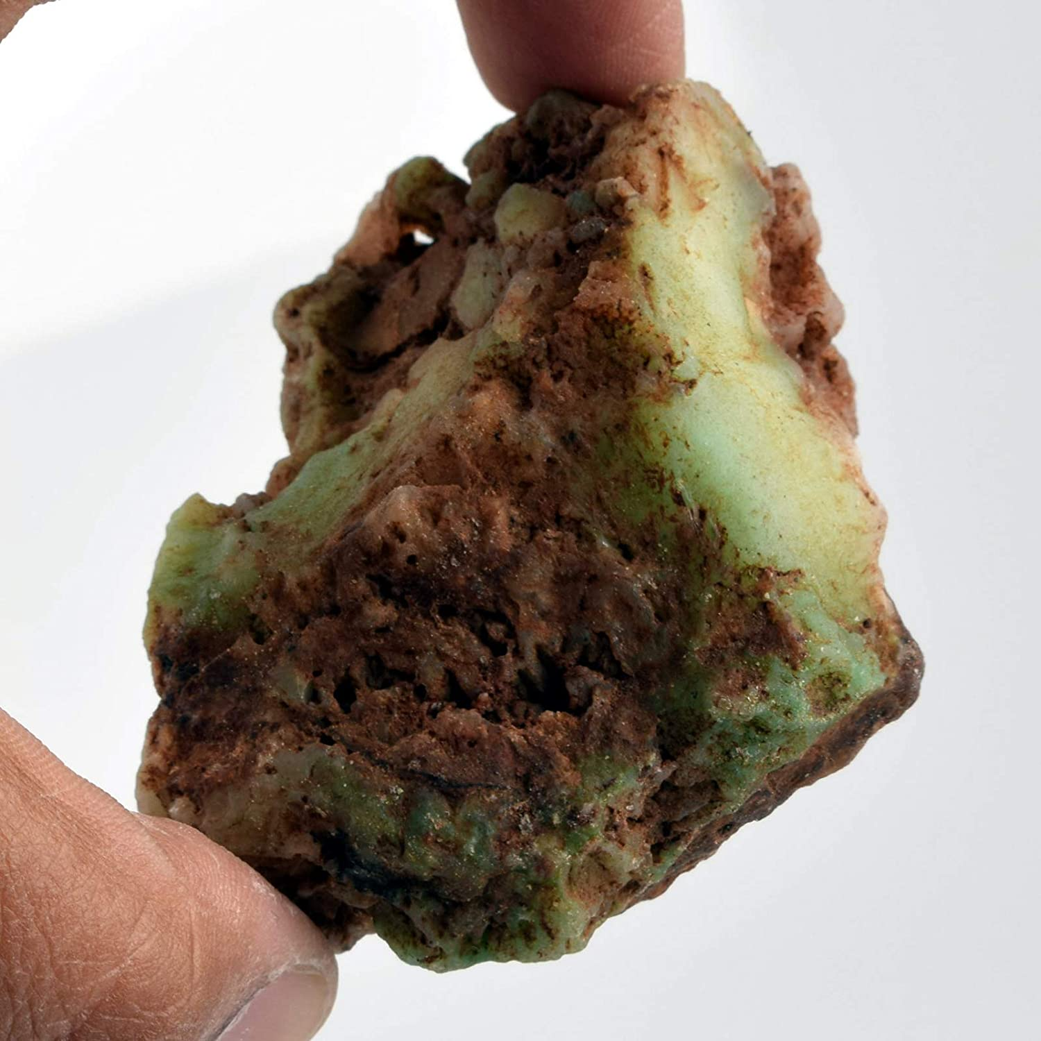 Real Gems Raw Chrysoprase Stone 628.00 Ct Natural Rough Raw Loose Chrysoprase Gem Chrysoprase for Lapidary Cabbing