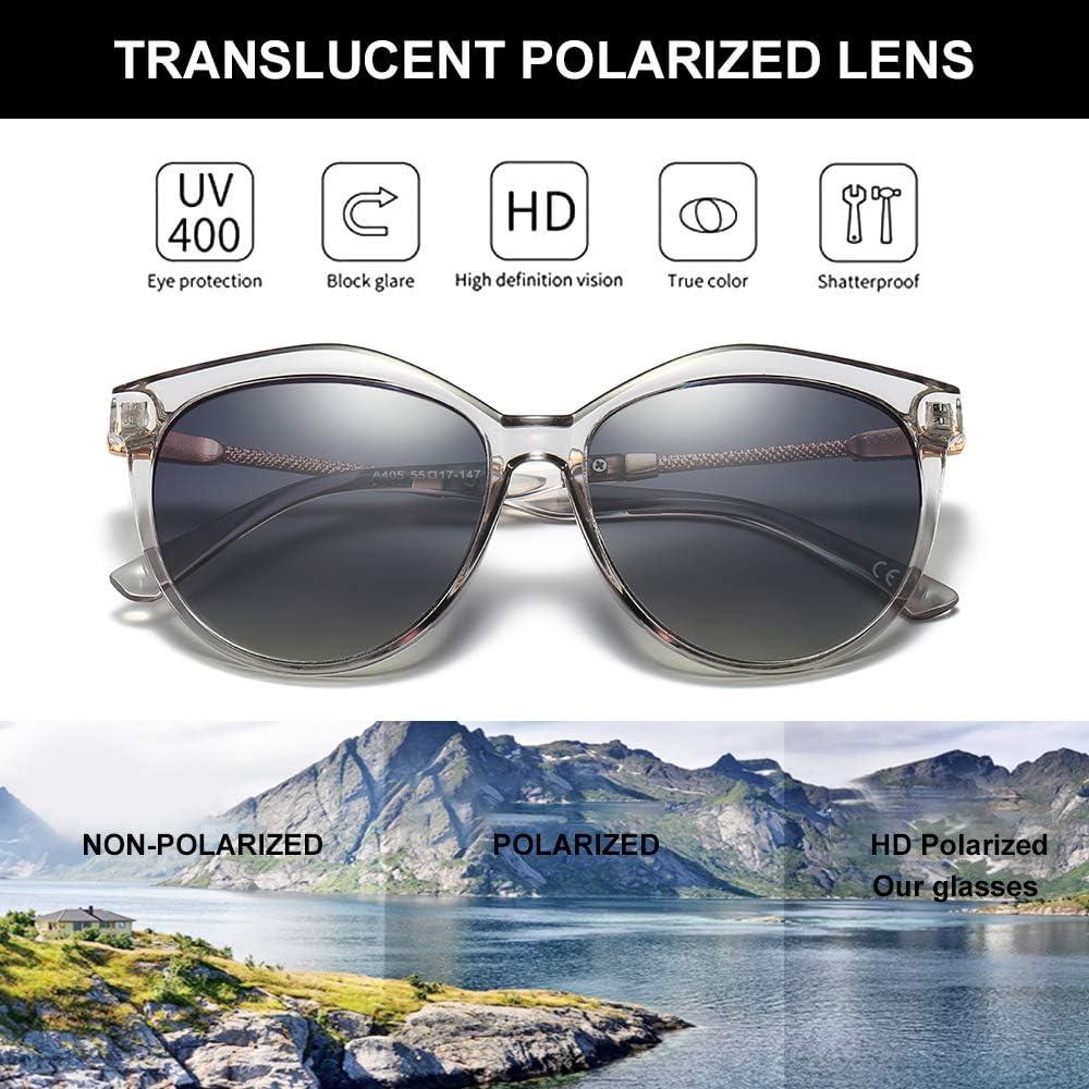 VeBrellen Oversized Moda Gafas De Sol Polarizadas para Mujeres UV400 Protect