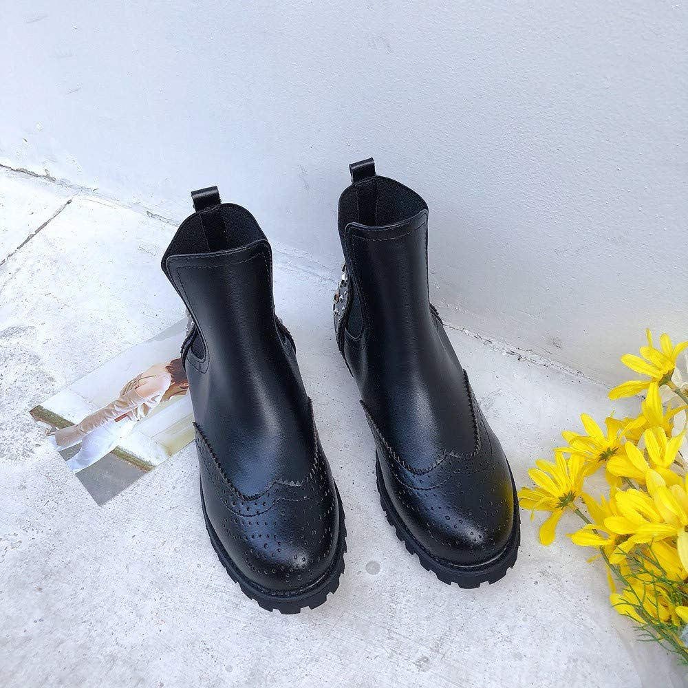 Scarpe Scarpe Scarpe Running ASHOP Stivali Da Donna Alla Moda Testa Rotonda Fondo Martin Stivali Stivali Classici Stivali Donna Invernali  Nero d0d566