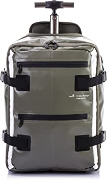 Hideo Wakamatsu Tarpaulin Hybrid Backpack Trolley Suitcase Khaki Amazon Ca Luggage Bags