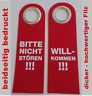 5 x Dekoschild Türschild Filz Türhänger rot Bitte nicht stören Hotel Pension