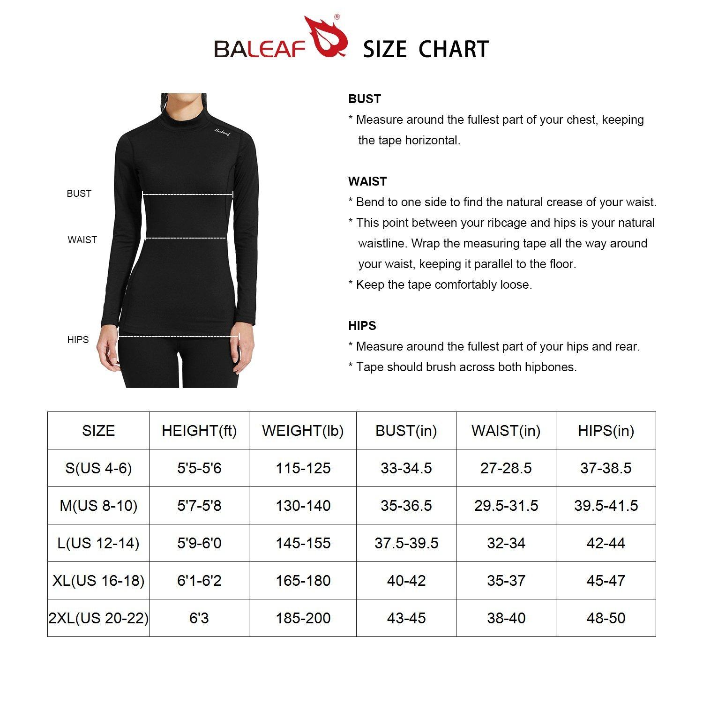 Baleaf Women's Long Sleeve One Piece Sun Protection Rash Guard Rashguard UPF 50+ Swimsuit Black Size S by Baleaf (Image #6)