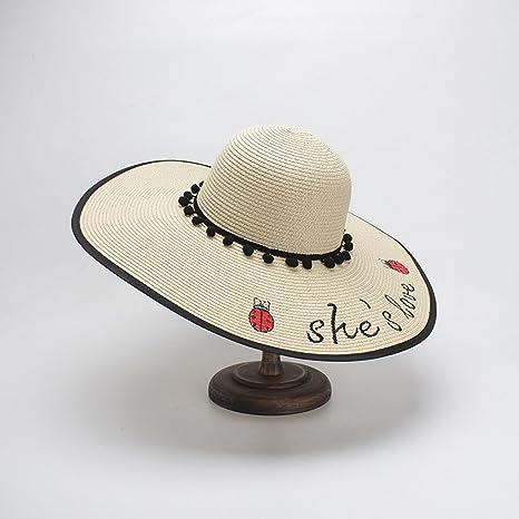 Sombreros de mujer de primavera y verano Sombreros de paja de ala ...
