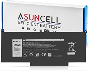 ASUNCELL F3YGT 7480 Laptop Battery for Dell Latitude 7480 7490 7390 7280 7290 7380 E7280 E7480 E7490 12 7000 13 7000 14 7000 Series P73G P73G001 P73G002 P29S002 DM6WC 2X39G KG7VF