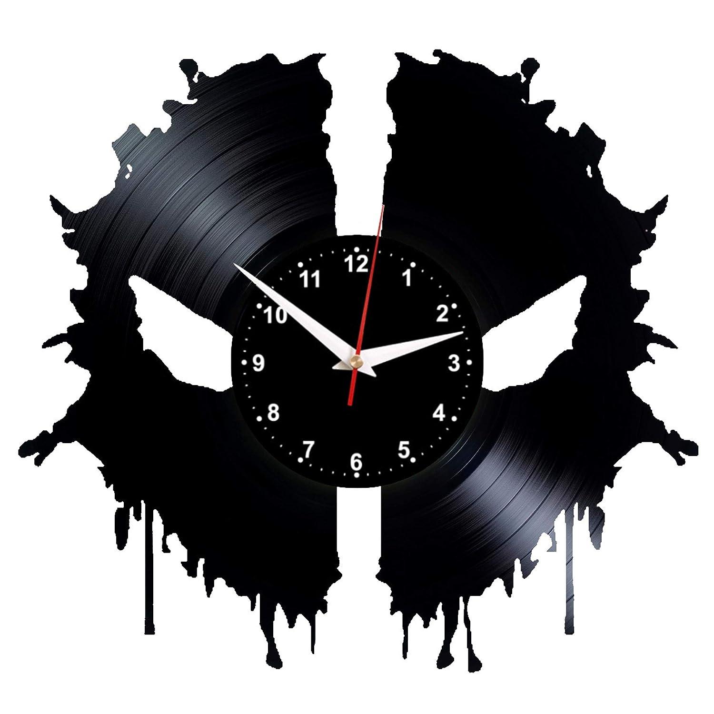 EVEVO Deadpool Reloj de Pared de Vinilo, diseño de Silueta Vintage ...