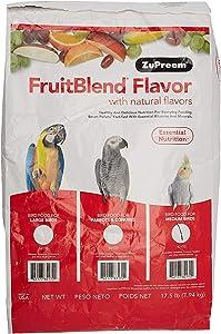Zupreem 230328 Fruitblend Medium Tiel Caged Bird Food, 17.5-Pound