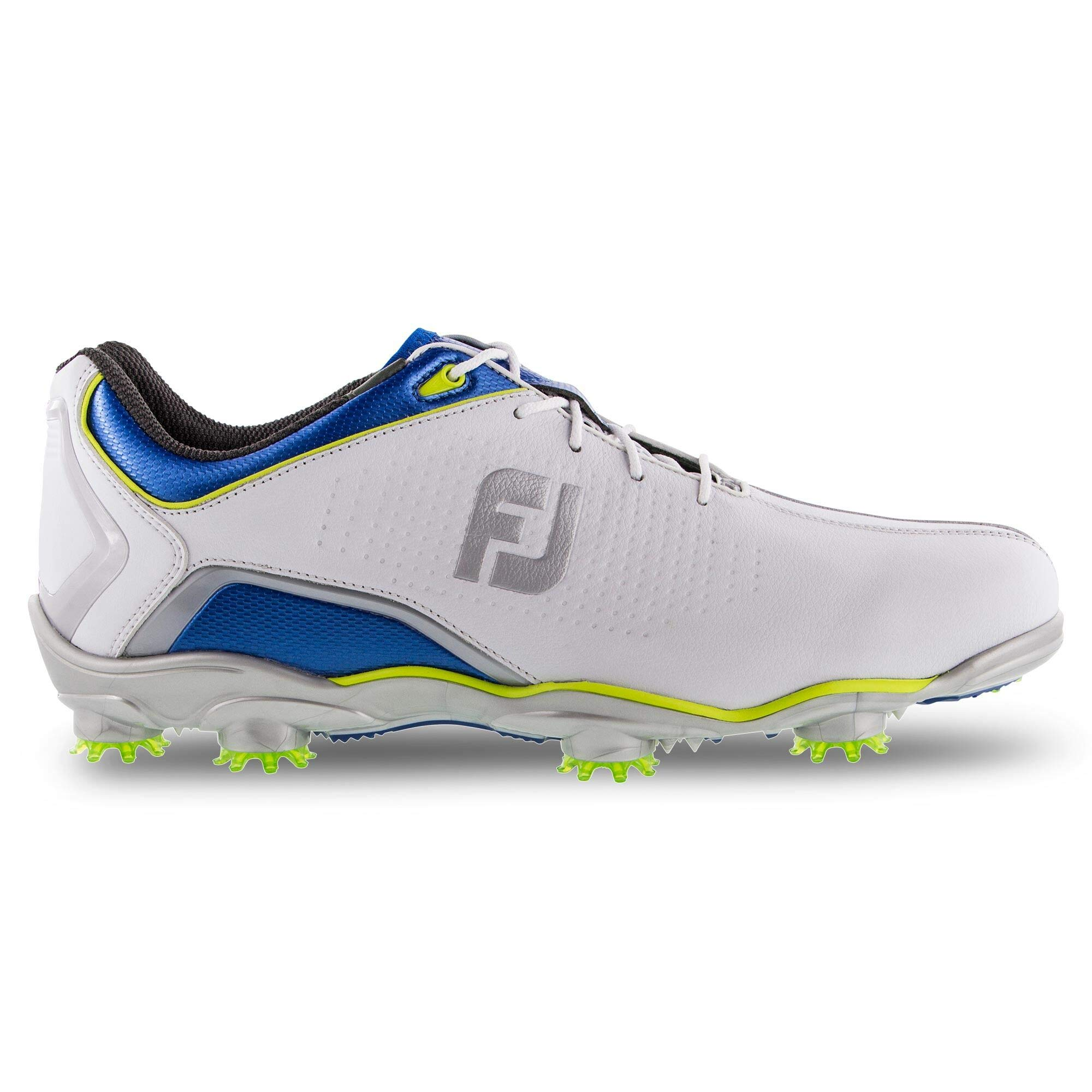 FootJoy Men's D.N.A. Helix Limited Edition-Previous Season Style Golf Shoes, White/Dusk/Lime, 9.5 W US by FootJoy