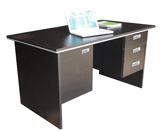 Zuari Novak CM 3 Office Table (Imperial Teak - PLB)