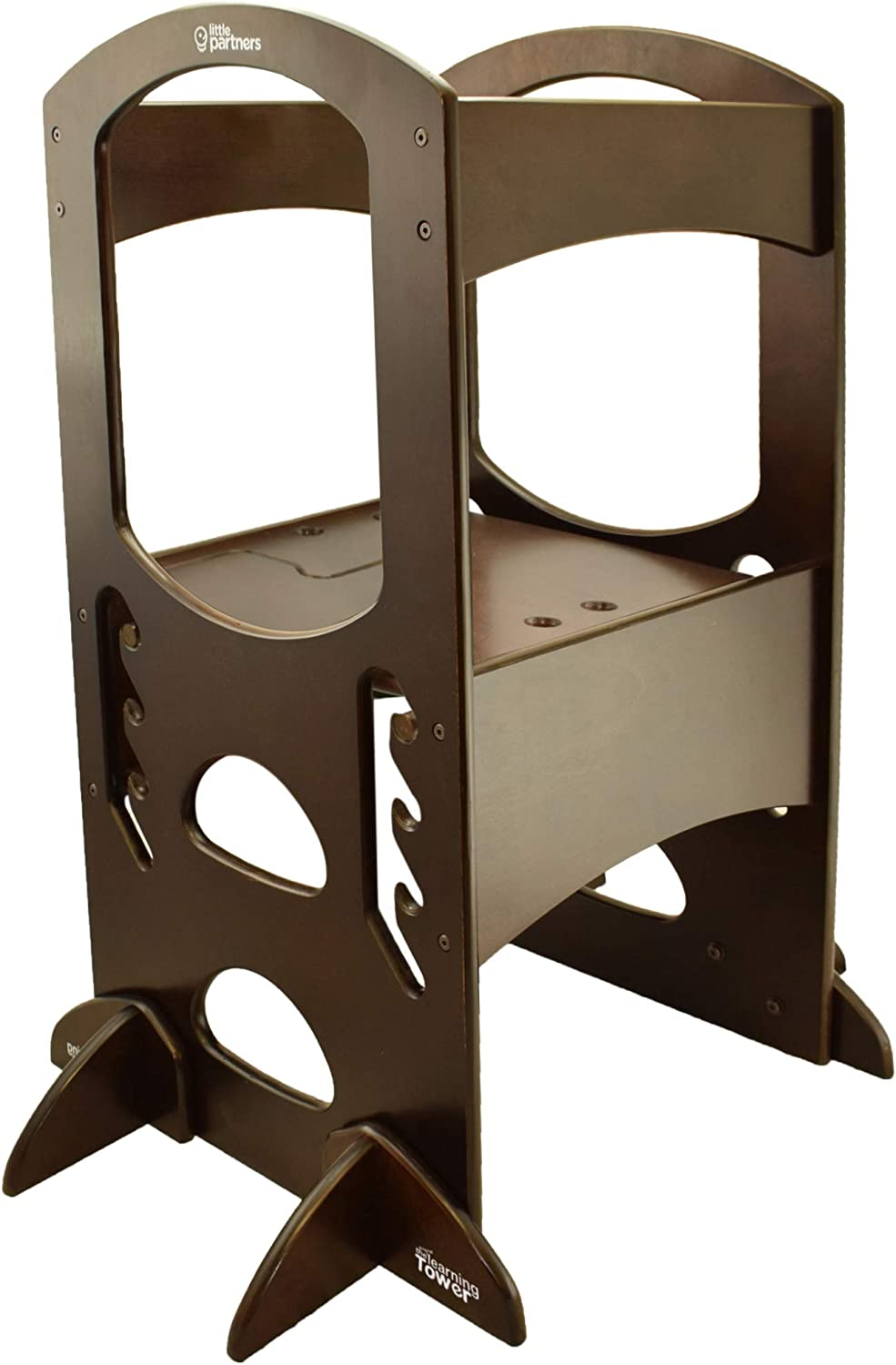 Espresso Kitchen Step Stool for Kids Marabell Toddler/'s Learning Tower