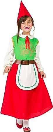 Disfraz Gnomo Niña (10-12 AÑOS): Amazon.es: Juguetes y juegos