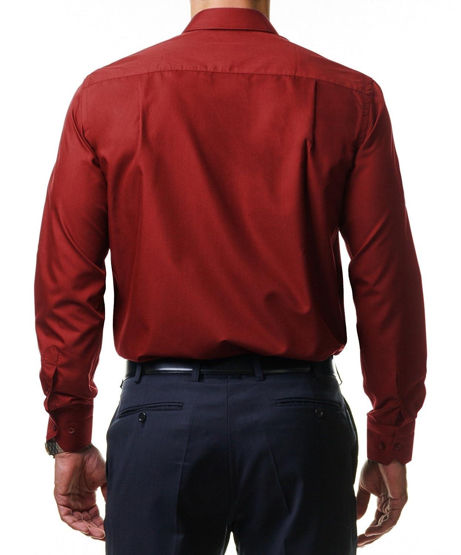 Alessandro Tonelli Herren Klassik Hemd Business B/ügelleicht Freizeit Hochzeit Feier Basic Regular Fit Shirt U03-063