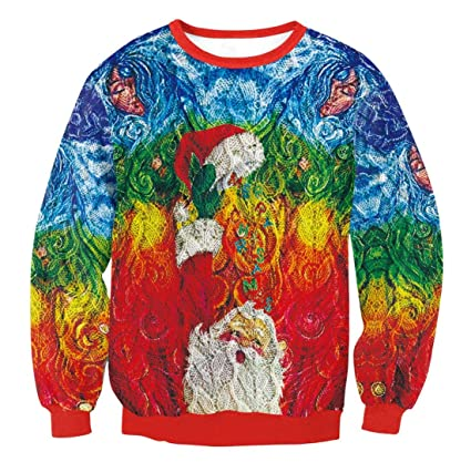 c0326eb9e309 Amazon.com  Wetietir Christmas Sweater Christmas Sweatshirt Winter ...