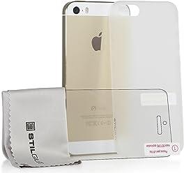 StilGut Ghost, custodia semitrasparente ultrasottile per Apple iPhone 5, iPhone 5s & iPhone SE incl. pellicola protettiva per Display e panno in microfibra
