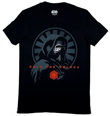 Mens VII Kylo Ren Rule The Galaxy Short Sleeve T-Shirt Star Wars