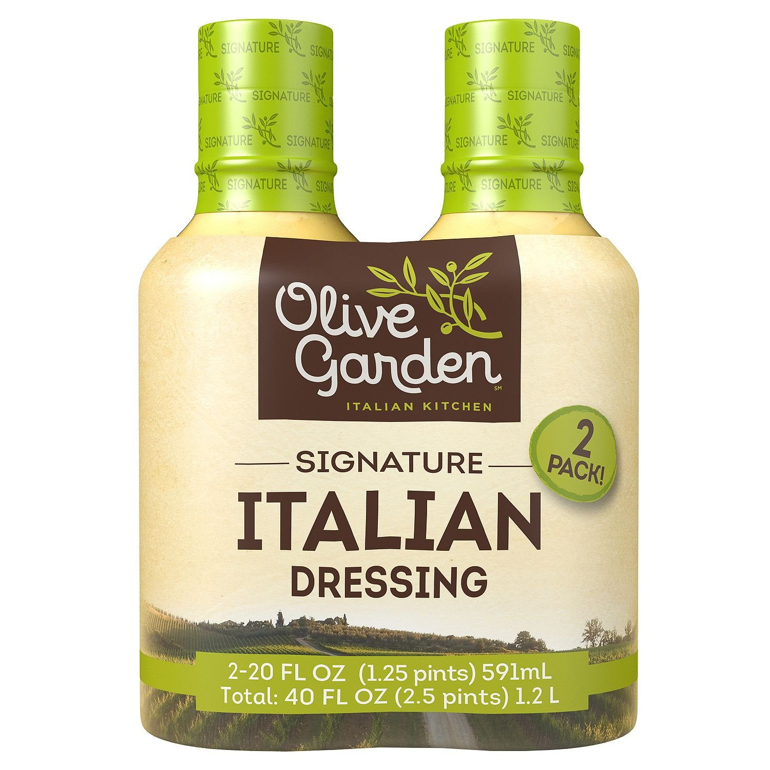 Olive Garden Signature Italian Dressing 20 oz. bottle, 2 ct. A1