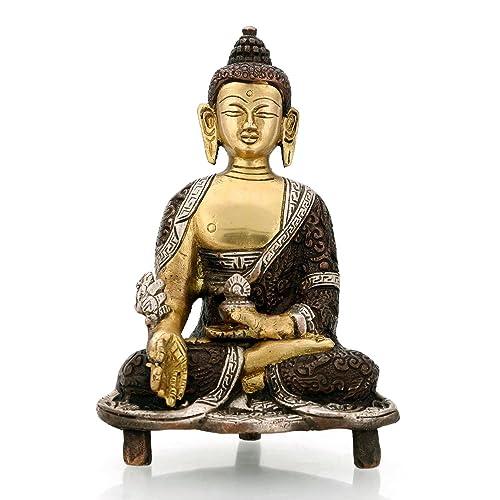 Digamber Arts Medicine Buddha Brass Statue