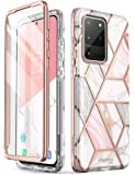 i-Blason Cosmo Series Case for Samsung Galaxy S20 Ultra 5G (2020 Release), Slim Stylish Protective Case with Built-in Screen Protector (Marble)
