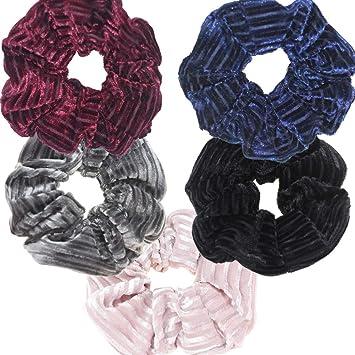 Terciopelo Rojo Arco para Cabello Accesorio de banda elástica para cabello Scrunchie Bobble