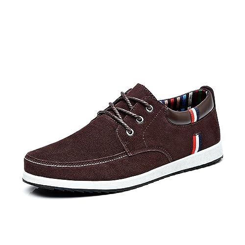 Botia Mocasines para Hombres Zapatos Casual de Cuero Mocasines Mocasines Deportivos de Primavera Zapatos Náuticos de Gamuza: Amazon.es: Zapatos y ...