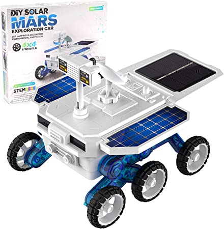 X TOYZ STEM Eco Science Building Kit DIY Solar Power Toy Car, Learning Science Building Space Mars Rover Car Toys Aged 8-12 Educational Gift for Kids & Teens, Boys & Girls