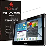 "TECHGEAR® Samsung Galaxy Note 10.1"" (GT-N8000 Series) GLASS Edition Genuine Tempered Glass Screen Protector Guard Cover"