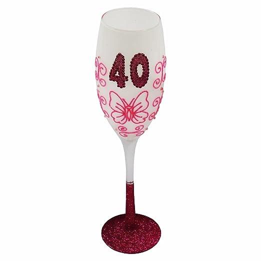 Glamourous - Copa de champán de regalo de 40 cumpleaños con ...