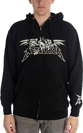 Metallica - para hombre con alas de miedo con cremallera Sudadera con capucha: Amazon.es: Ropa y accesorios