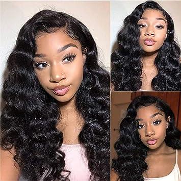 Virgin Brazilian Human hair Loose Wave Lace Front Wig