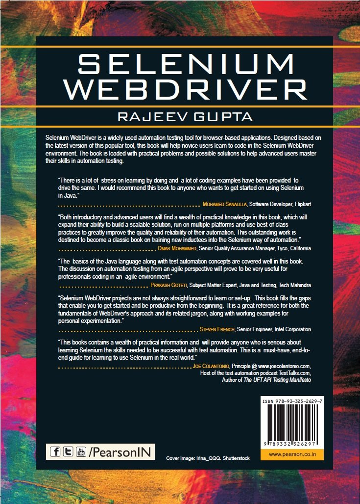 Buy Selenium Webdriver 1e Book Online At Low Prices In India