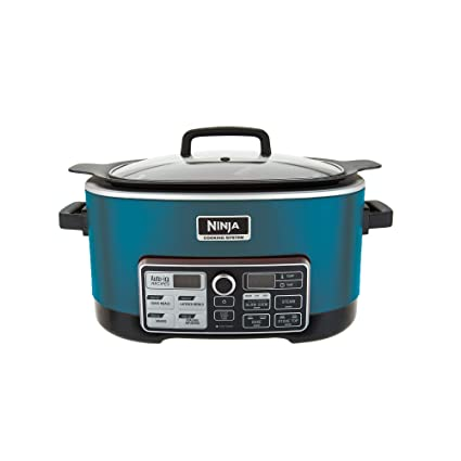 Ninja 4 in 1 6 Qt. CS970QFM Accutemp Slow Cooking System (Renewed) (Teal)