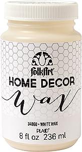 FolkArt 34860Home Decor Wax, 8-Ounce, White