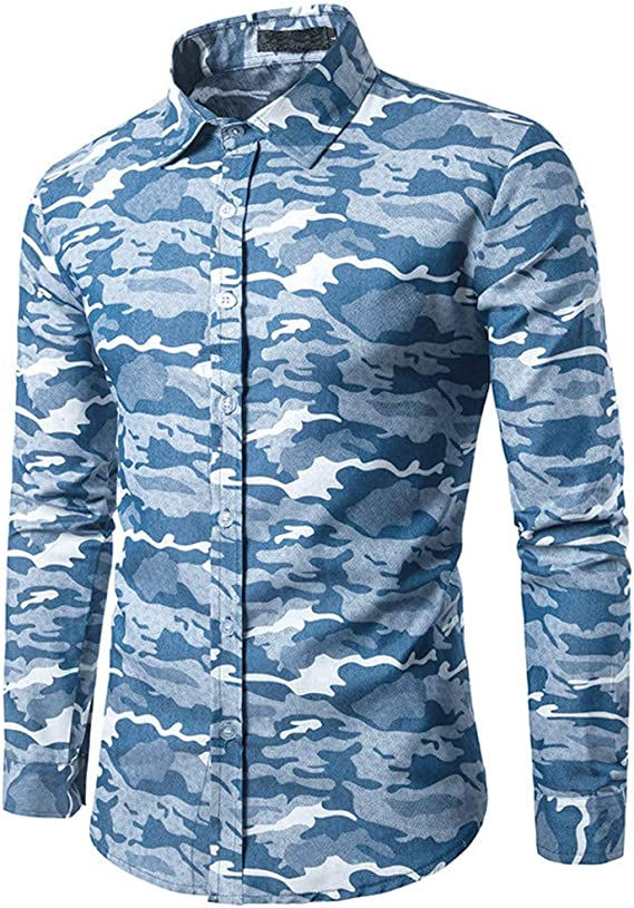 Rawdah_Camisas De Hombre Manga Larga Camisas De Hombre De Vestir Camisas De Hombre Blancas Camisas De Hombre Talla Grande Camisas Hombre Manga Larga Polo: Amazon.es: Ropa y accesorios