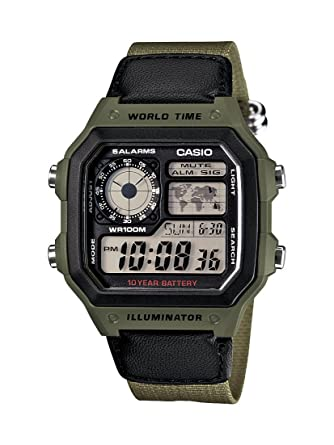 Amazon.com: Casio Mens AE1200WHB-3BV 10 Year Battery Watch: Casio: Watches