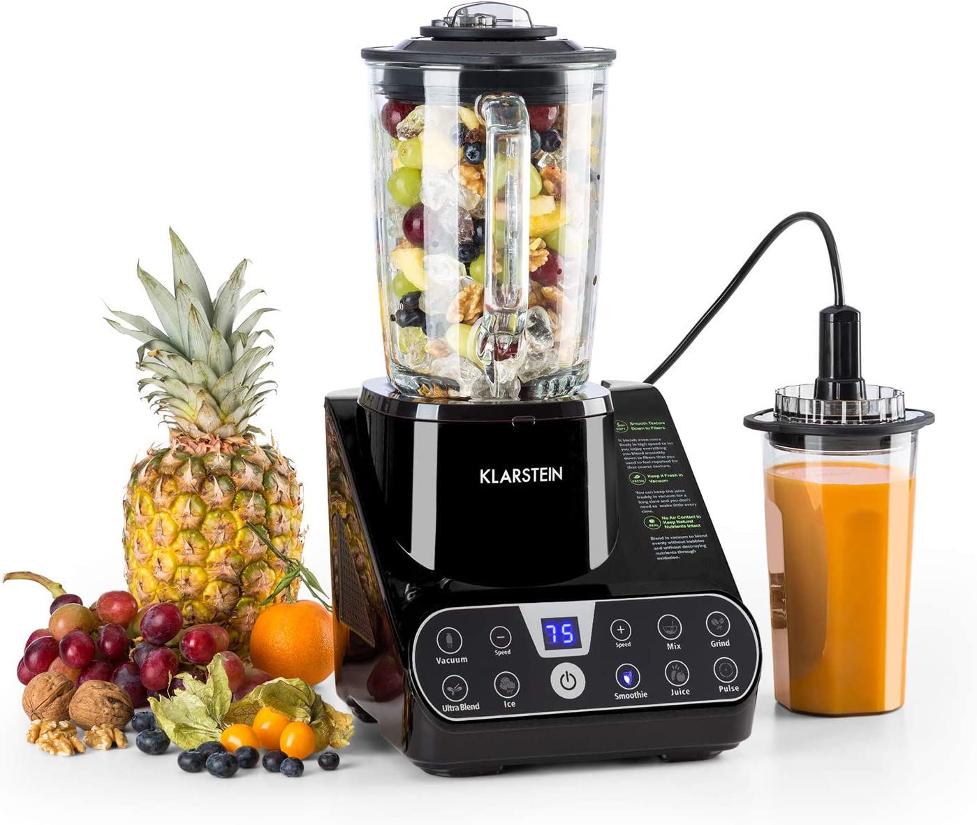 Klarstein Airakles Vacuum Blender with glass jug
