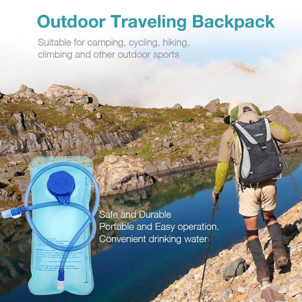 camping senderismo color azul mochila de hidrataci/ón escalada o diclismo para practicar deporte Bolsa de agua de 2L para hidrataci/ón