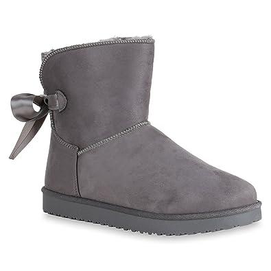Damen Schuhe Stiefeletten Warm Gefütterte Boots Schwarz 40 g8sYE