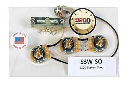 amazon com 920d 3 way wiring harness fender stratocaster strat hh rh amazon com