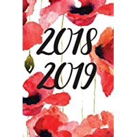 "2018-2019: 18-Month Daily Planner, July 2018 – December 2019, Red Floral 6""x9"""