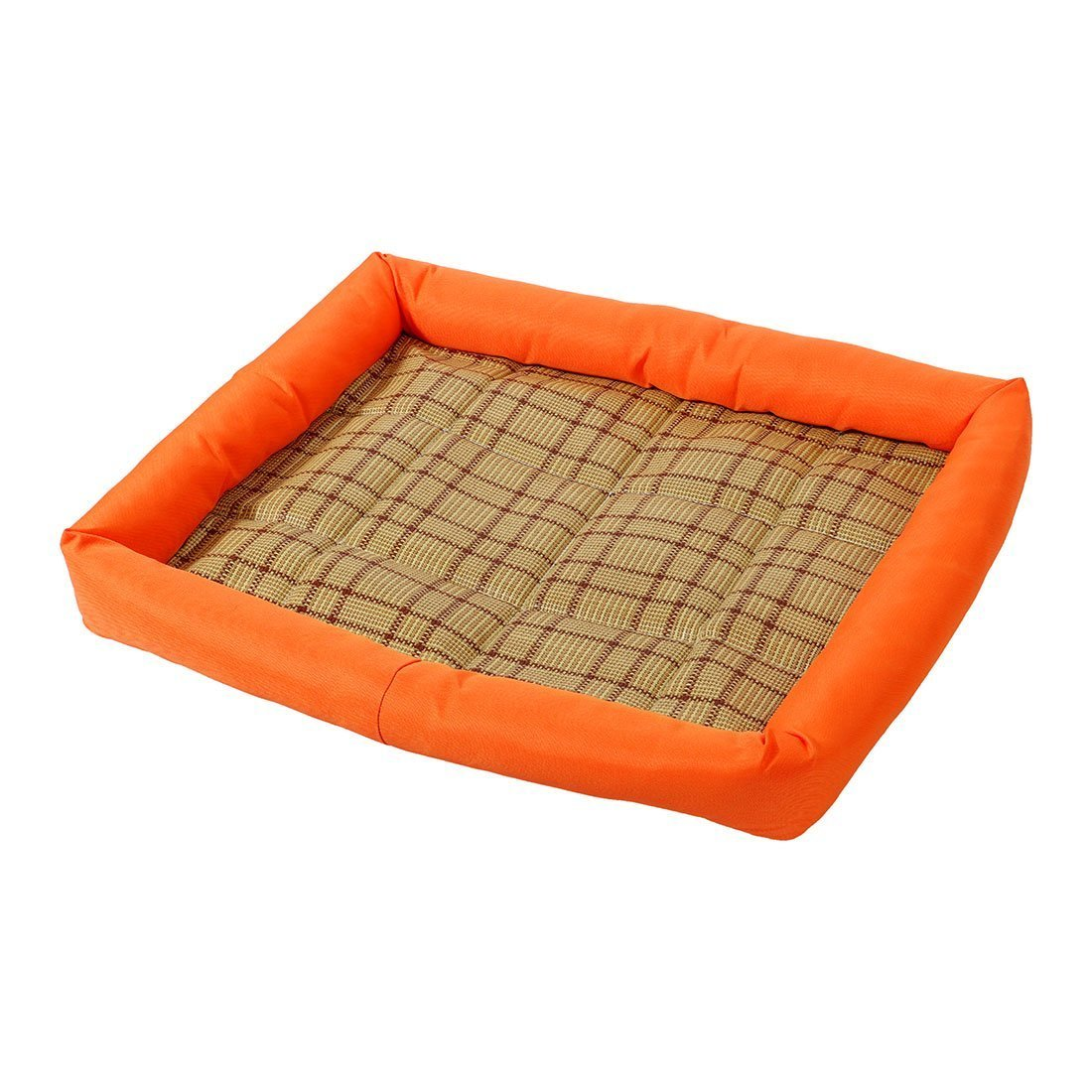 Chusea Cosy Blanket for Cat Pet Dog Cat Indoor Summer Heat Resistant Sleeping Bed Cushion Mat (orange, L)