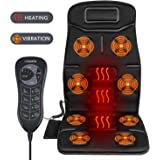 Naipo Vibrating Massager Car Seat Massage Cushion Vibration Pad Cover for Full Back and Thigh with Heat Function and 8 Motor Vibrations 4 Modes 3 Speed for Home Car Office (Thickened Type)